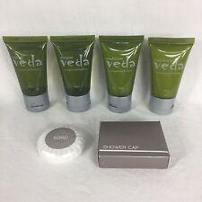 Veda Travel Size Toiletries 6 Piece Set with Lemongrass & Eucalyptus By Eco Pure