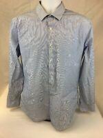 DKNY Men's Blue/White Striped Slim Fit Button Down Dress Shirt Sz 16 1/2 (34/35)
