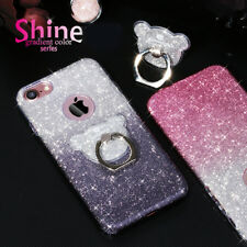 phone 5678 X Sepluse gradient flash with colored bear ring bracket phone shell