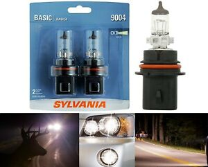 Sylvania Basic 9004 HB1 65/45W Two Bulbs Head Light High Low Beam Replace Stock