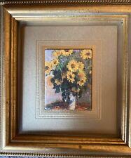 """Atelier Fine Art Monet """"Sunflowers"""" Custom Framed"""