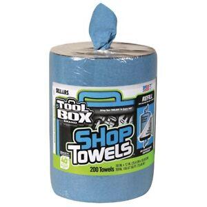 Big Grip Bucket Blue Shop 200 Towels Refill Mechanic Garage