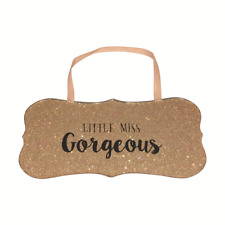 Little Miss Gorgeous All That Glitters Glass Hanging Plaque With Ribbon