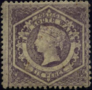 Australien Neusüdwales 1860 Königin Vikt., MiNr 27 C W I, gummiert mit Falzrest