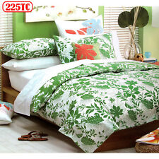5 Pce - 225TC Amazon Tropical Leaf Quilt Cover Set + 2 Eurocases QUEEN