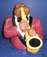 Clay Art Jazz Player  Cookie Jar- New in Box- Retired #8823- Black Americana
