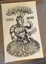 Emek Poster Foo Fighters Beck Screen Print Blink 182 2000 Bizarre Festival