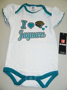 JACKSONVILLE JAGUARS NEW NFL FOOTBALL INFANT TODDLER CREEPER WHITE 18 M