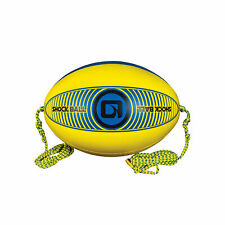 O'Brien Oval Shock Ball for Tubes with Lightning Valve, Yellow/Blue (Open Box)