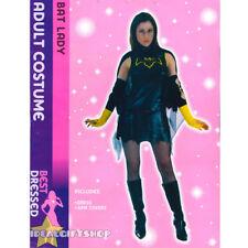 LADIES BAT LADY BAT GIRL COSTUME ADULTS FANCY DRESS SUPERHERO VAMPIRE OUTFIT