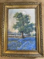 """Antique """"Pasture And Landscape Scene"""" Oil On Board Painting - Signed And Framed"""