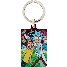Rick And Morty Metal Keyring | OFFICIAL