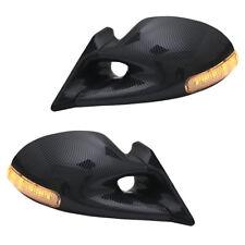 Sportspiegel Spiegel Carbon Optik manuell mit LED Blinker Opel Calibra