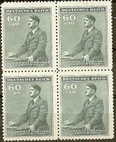 Stamp Germany Bohemia B&M Mi 086 Sc B10 Block 1942 WW2 Fascism Hitler Hitler MNH