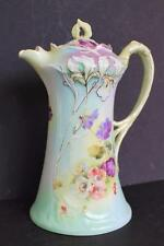 Antique 1897 BRC BAUER ROSENTHAL&Co Bone China IRIS MOLIERE Coffee Chocolate Pot