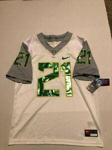 Men's Nike #21 Oregon Ducks Football Limited  Plus Jersey  Size: L NWT White
