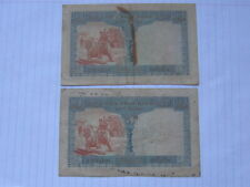 2 Pcs x 1 Piastre French Indochina Notes 1954 (See Photos)