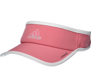 NEW! adidas Women's AEROREADY Superlite Visor-Hazy Rose/White
