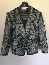 JEAN-CLAUDE JITROIS Black Women's Vintage Leather Jacket/Coat/Blazer