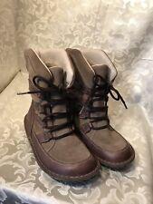 Women's Sorel Kaya Mud Waterproof Thinsulate BROWN Leather Boots sz 37/6M NICE