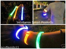 6pcs LED Flashing Light Night OUTDOOR Sports Armband Biking Camp Cycling Safety