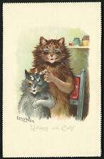 Louis Wain. Unhappy & Curly by Tuck. Calendar Postcard # 5802.