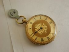Superb Victorian 18ct Solid Gold Key Wind Pocket Watch in Lovely Condition