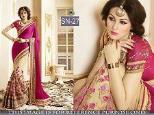 Indian Bollywood Designer Ethnic Traditional Wedding Party Wear Saree Sari SN-27