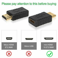 2 Pcs Hdmi Male to Mini Hdmi Female Converter Adapter From Usa Fast Delivery!