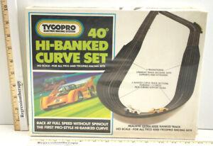 V.Rare Sealed Tyco Pro Hi-Banked Curved Slot Car Track Set Extra Wide 40 Degrees