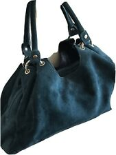 Hobbs Teal Suede Handbag - New RRP £145