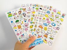 6 sheet mamegoma Diary Planner notebook Scrapbooking Kawaii Decorative stickers