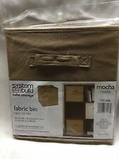 "Fabric Bin - Mocha - System Build Cube Storage - 10 1/2 x 10 1/2 x 11"" NEW"