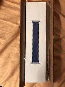 Apple Watch Genuine 44mm Atlantic Blue Braided Solo Loop - Size 7 OEM Brand New