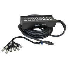 Stellar Labs 555-13862 32' 8 Channel Box XLR Cable Snake
