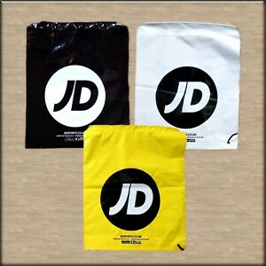 JD Sports Duffle Bag Drawstring - Colours - White, Black, Yellow OR Gold *NEW