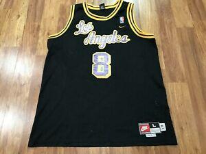 MENS LARGE Vtg NBA Los Angeles Lakers #8 Kobe Bryant Nike Throwback Sewn Jersey