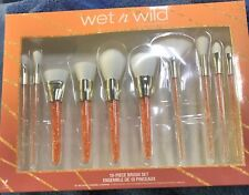 NEW!! Wet N Wild 10 piece Make Up Brush Gift Set! Limited Edition!