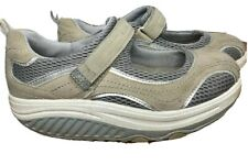 Womens Skechers Toning Shape Ups Tan Gray Silver Mary Jane Size 7 US 4 UK 37 EUR