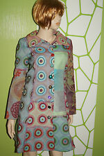 DESIGUAL aberrante da Donna Cappotto Corto Tg 40 multicolorgrün ROSSO BLU
