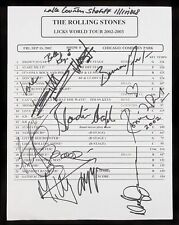 ROLLING STONES Signed Set List LICKS - Jagger / Richards / Wood / Watts preprint