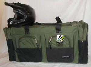 XL Motorcycle atv gear bag motocross dirt bike snowmobile army green