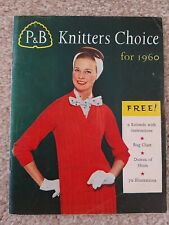 VINTAGE  P&B KNITTERS CHOICE FOR 1960 BOOK.