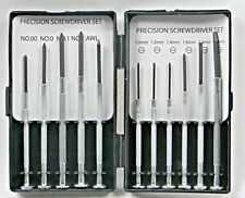 11 pc Small Precision Screwdriver Kit Phillips Cross Flat Slot Slotted Micro