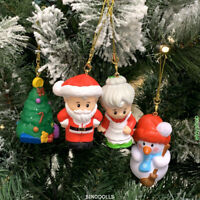 4x Christmas Holiday Ornament Tree Deco Fisher-Price SANTA CLAUS SNOWMAN gift