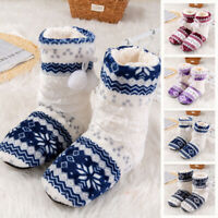 Women Fluffy Printed Winter Warm Ankle Boots Flat Bedroom House Comfy Slippers