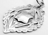 Antique Solid Silver Albert Pocket Watch Chain Fob Medal, Chester 1919, TJS.