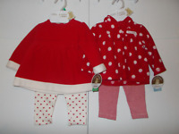 Carter's Infant Girls Christmas Outfit Two-Piece Red Various Sizes NWT