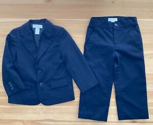 JANIE AND JACK Blue Special Occasion Suit Jacket & Pants Set Size 3T