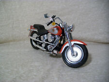 Maisto 1:18 Scale Harley Davidson Fat Boy Fatboy, Red/Silver/Black - Nice!